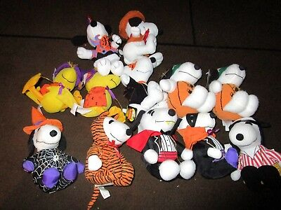 SALE!!! 10 Plush Whitman Halloween Snoopys and 2 Woodstocks; 12 in All!