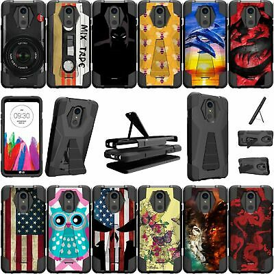 For LG Stylo 4 and LG Stylus 4 Shockproof Dual Bumper Case