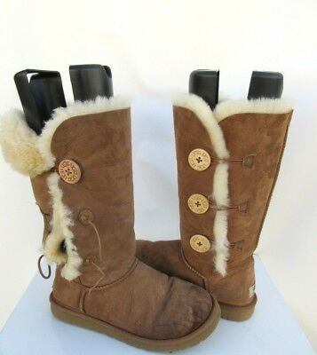9aebccc1847 UGG WOMEN'S BAILEY Button Triplet Button Boots Chestnut Brown 1873 Size 7 #4
