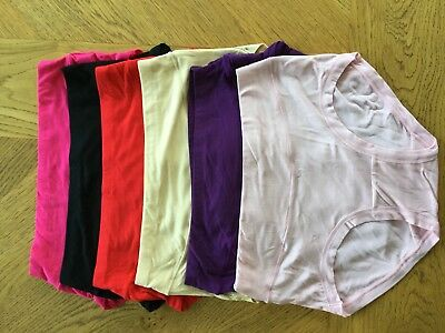 Women's Multi Coloured Bamboo Moisture Absorbing Knickers, Briefs, Pants x2 UK