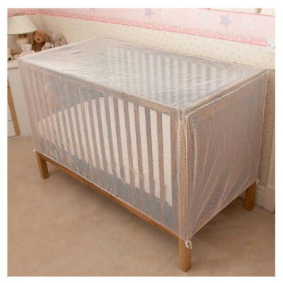 Cot Cat Net Strong Pre-Shaped White Mesh for Standard Cots Secure Drape Cover