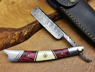 TITANs Handmade Damascus Steel Straight Razor Cut Throat Beautiful Gift ST5