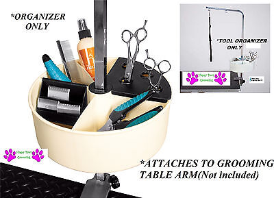 Pro Pet GROOMING Tool Blade Shear Pet GROOMER ORGANIZER Caddy Rack FOR TABLE ARM