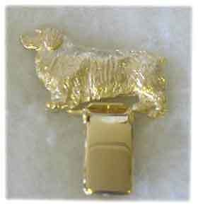 Clumber Spaniel Gold Plated Ring Clip Pin Jewelry LAST ONE!