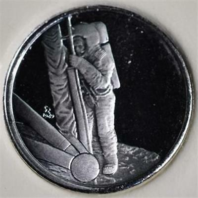 First Step On The Moon Platinum Limited Edition Mini Coin - Franklin Mint