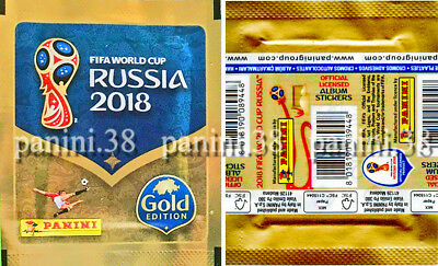 "Pochette SWISS GOLD EDITION ""WC RUSSIA 2018"" bustina, packet, tüte PANINI"