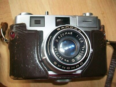 Vintage 1950s Samoca  35mm Camera with case, strap