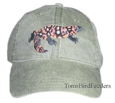 Gila Monster Embroidered Cotton Cap NEW Reptile Lizard