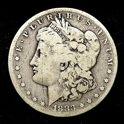 1883 S ~**KEY DATE**~ Silver Morgan Dollar Rare US Old Antique Coin! #249