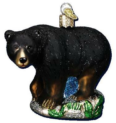 Black Bear Wildlife Forest Nature Old World Christmas Glass Ornament Nwt 12207