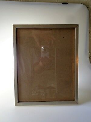 Antique Art Deco Palmer Smith Aluminum Picture Frame 8 X 10