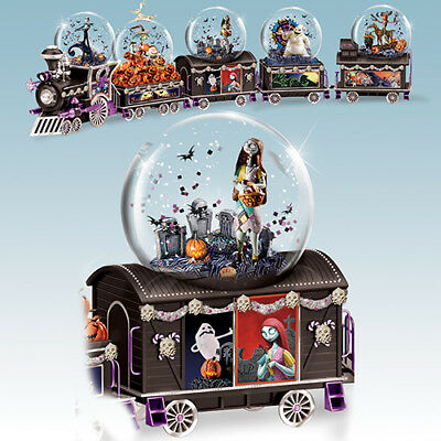 Spooky Graveyard Picnic Water Globe Train 3 Only Nightmare Before Christmas