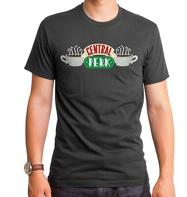Authentic Friends TV Show Central Perk Cafe Coffee Shop Adult soft T-shirt top