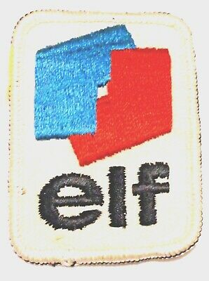 "Elf Gasoline Patch Embroidered Oil 2-7/8"" inches Original"