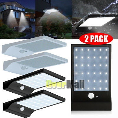 4-Pack 36 LED Solar Powered Motion Sensor Garden Security Lamp Waterproof Light