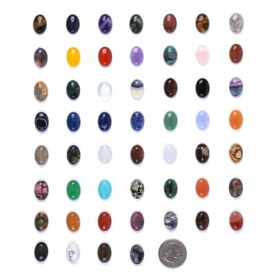 Wholesale 18mm Oval cabochon CAB flatback semi-precious gemstone Save $ in bulk