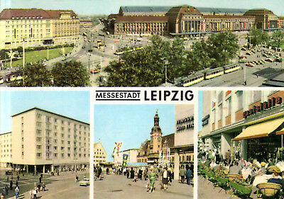 leipzig hauptbahnhof und hotel astoria stra enpartie reichsstra e 1968 eur 1 00. Black Bedroom Furniture Sets. Home Design Ideas