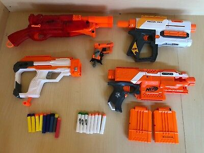 Nerf Guns Bundle Job Lot - Bullet Magazines & Guns Recon Mkii Ftryfe Jolt