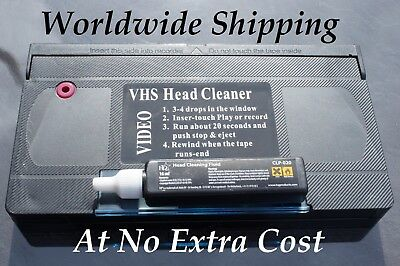 SUPER QUALITY VHS VIDEO HEAD CLEANER / CLEANING TAPE/ CASSETTE- WET or DRY USE