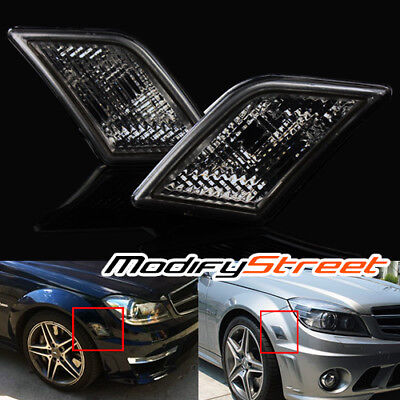 For 08-11 Mercedes Benz W204 C300/c350/c63 Euro Smoked Side Marker Lights Lamps
