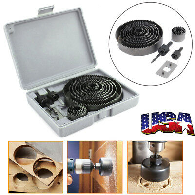 16x Hole Saw Tooth Kit HSS Steel Drill Bit Set Cutter Tool For Metal Wood Alloy