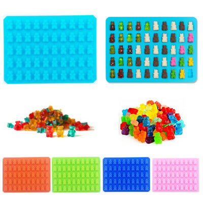5 Colors 50 Cavity Chocolate Ice Tray Bear Silicone Candy Mold Gummy Mould