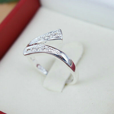 925 Silver Plated Ring Finger Band Adjustable Ring Hot Sale Women's Jewelry