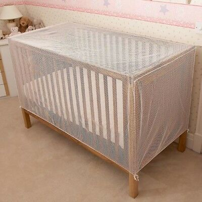 Baby Cot & Cot Bed Cat-Net Strong Pre-Shaped White Mesh Drape-Cover