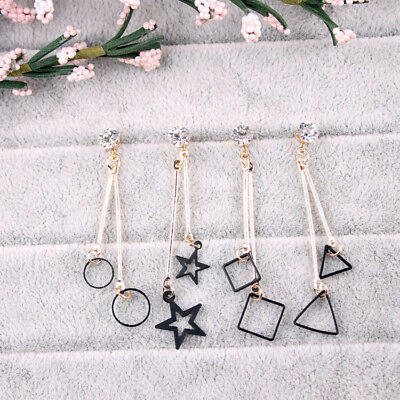 1 Pair Simple triangle / round / square / stars fashion tassel wild earring gift