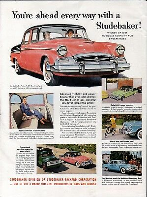 1955 Studebaker Cars You're Ahead Every Way Ad
