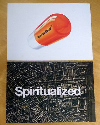 SPIRITUALIZED - Set of 2 Promo Postcards/Flyers 1997-1998 UK Indie RARE/VINTAGE!