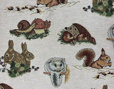 English Woodland Animals Tapestry Designer Curtain/Upholstery Fabric