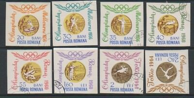 Romania - 1964, Olympic Games (Gold Medals) Imperf set - F/U - SG 3220/7