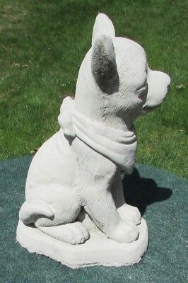 Concrete Chihuahua  Dog Statue, Memorial Or Grave Marker