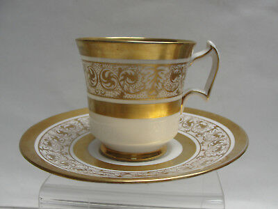 ROYAL CHELSEA China - MIDAS Pattern (gold encrusted) - CUP & SAUCER SET