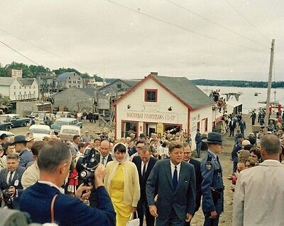 President John F Kennedy and Patricia Lawford in Boothbay Maine New 8x10 Photo