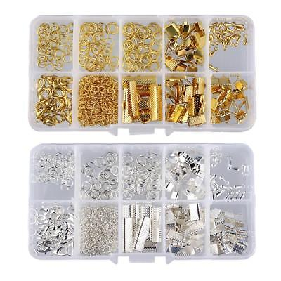 2 Set Jewelry Finding Kits Earring Making Clothing Decoration Gold & Silver