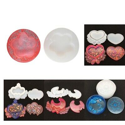 DIY Crystal Silicone Storage Box Mold Resin Mould Jewelry Casting Craft Tool