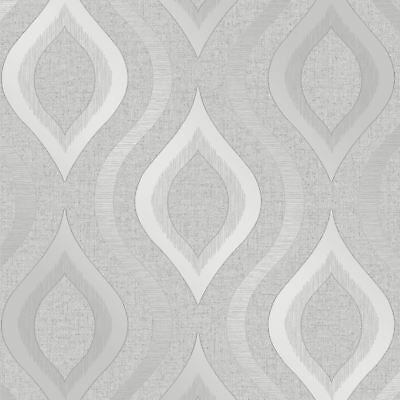 Quartz Geometric Wallpaper Silver - Fine Decor Fd41968 Glitter