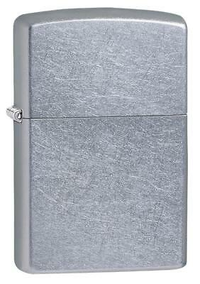 Zippo 207 Regular Street Chrome Silver Lighter Petrol Windproof Giftboxed