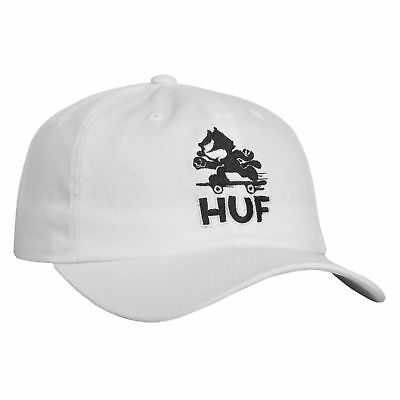 HUF x FELIX THE CAT Cap Skate Curve Brim White Strapback Skateboard Hat