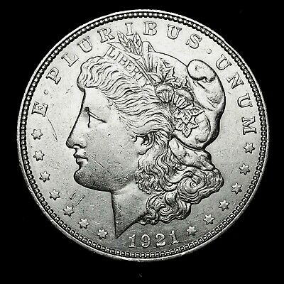 1921 D ~**ABOUT UNCIRCULATED AU**~ Silver Morgan Dollar Rare US Old Coin! #57