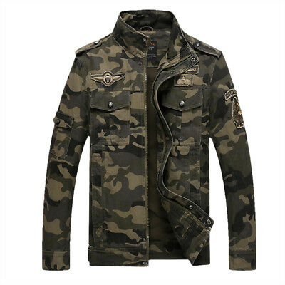 Mens Camouflage Outdoor Hunting Camping Coat Military Tactical Army Jackets N192
