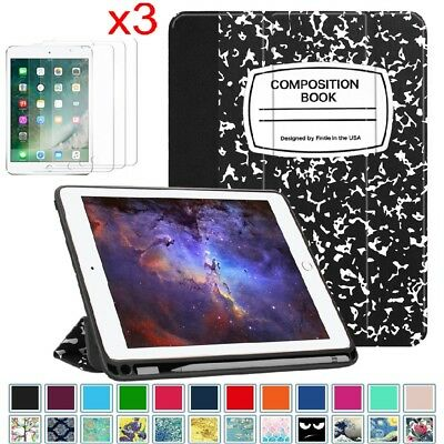 """For iPad 9.7"""" 6th Gen 2018 / 5th 2017 Case Stand Cover with Apple Pencil Holder"""