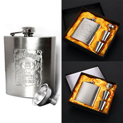 7OZ Portable Stainless Steel Flask Wine Tube Whisky Alcohol Drinkware For Home