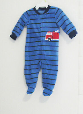Carters Baby Boys Rugby Stripe Romper Whale 3m, Navy