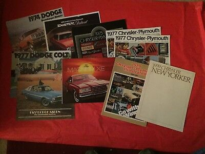 LOT 10--1970s Dodge Chrysler Plymouth Dealer Sales Brochures Duster Ramcharger