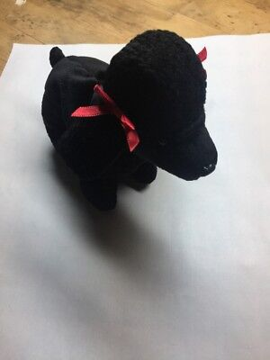 "Ty Beanie Baby ""GIGI"" THE BLACK POODLE DOG  - MINT-TAGS  RETIRED"
