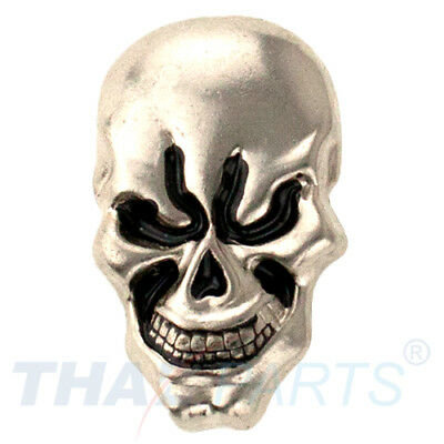 Concho #129 17mm x 28mm Schädel Skull Concha Leathercraft Silber Conchos