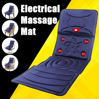 Heated Back Massage Chair Car Seat Cushion Heat Pad Lumbar Neck Home Massager